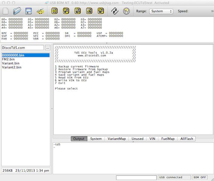 Td5 ECU Tools: scripts for the USBBDM NT | DiscoTD5 com